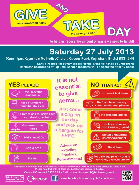 5209 - Give & Take poster Keynsham 2013